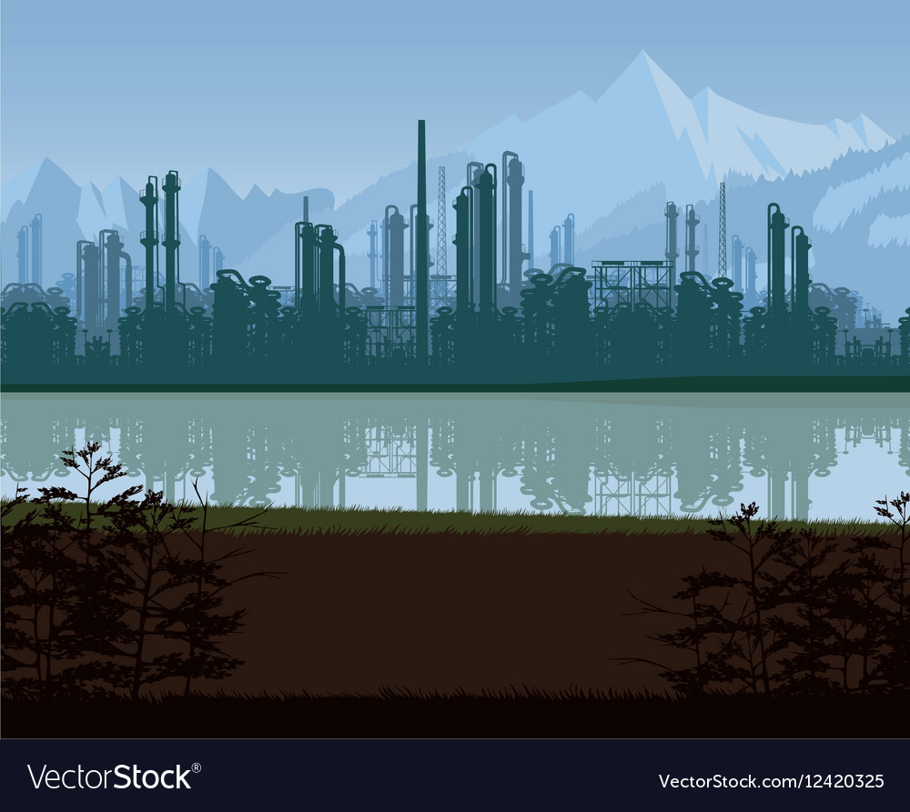 Background of oil and gas refinery