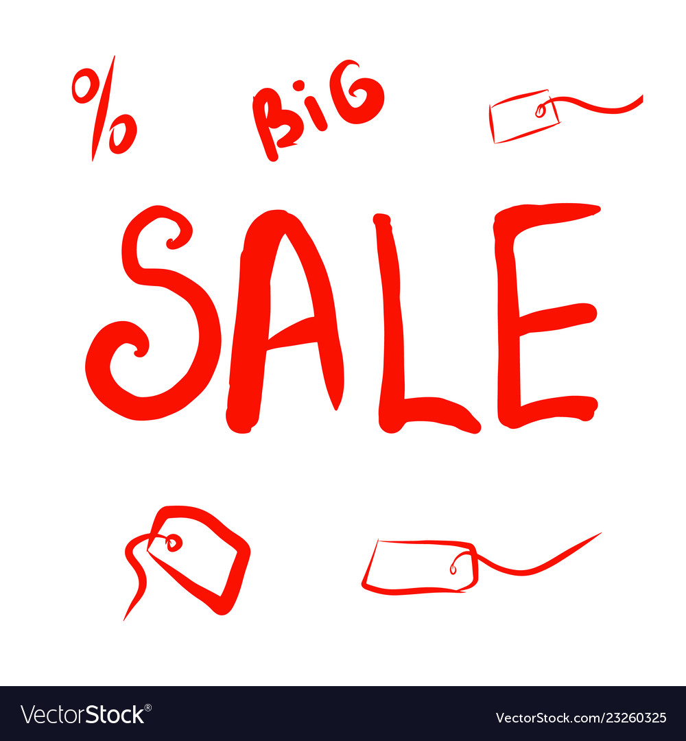 Big discount red banner on