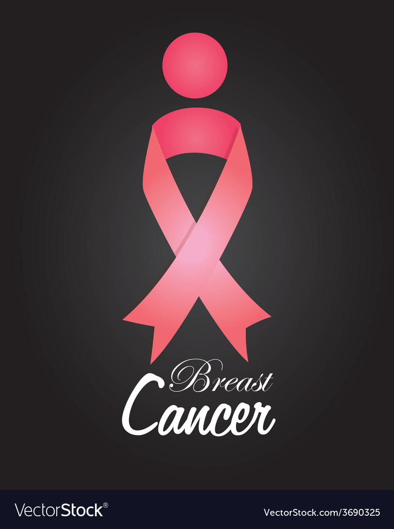 Cancer design over black background