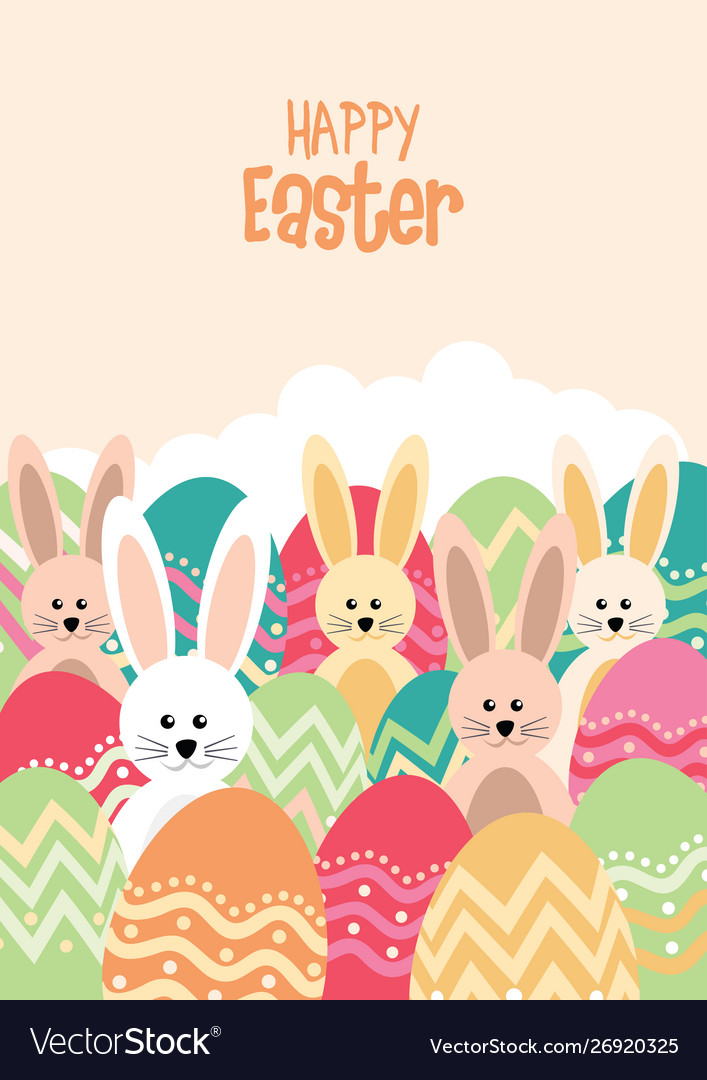 Easter bunnies and egss