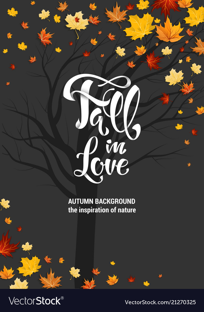 Fall leaves and lettering