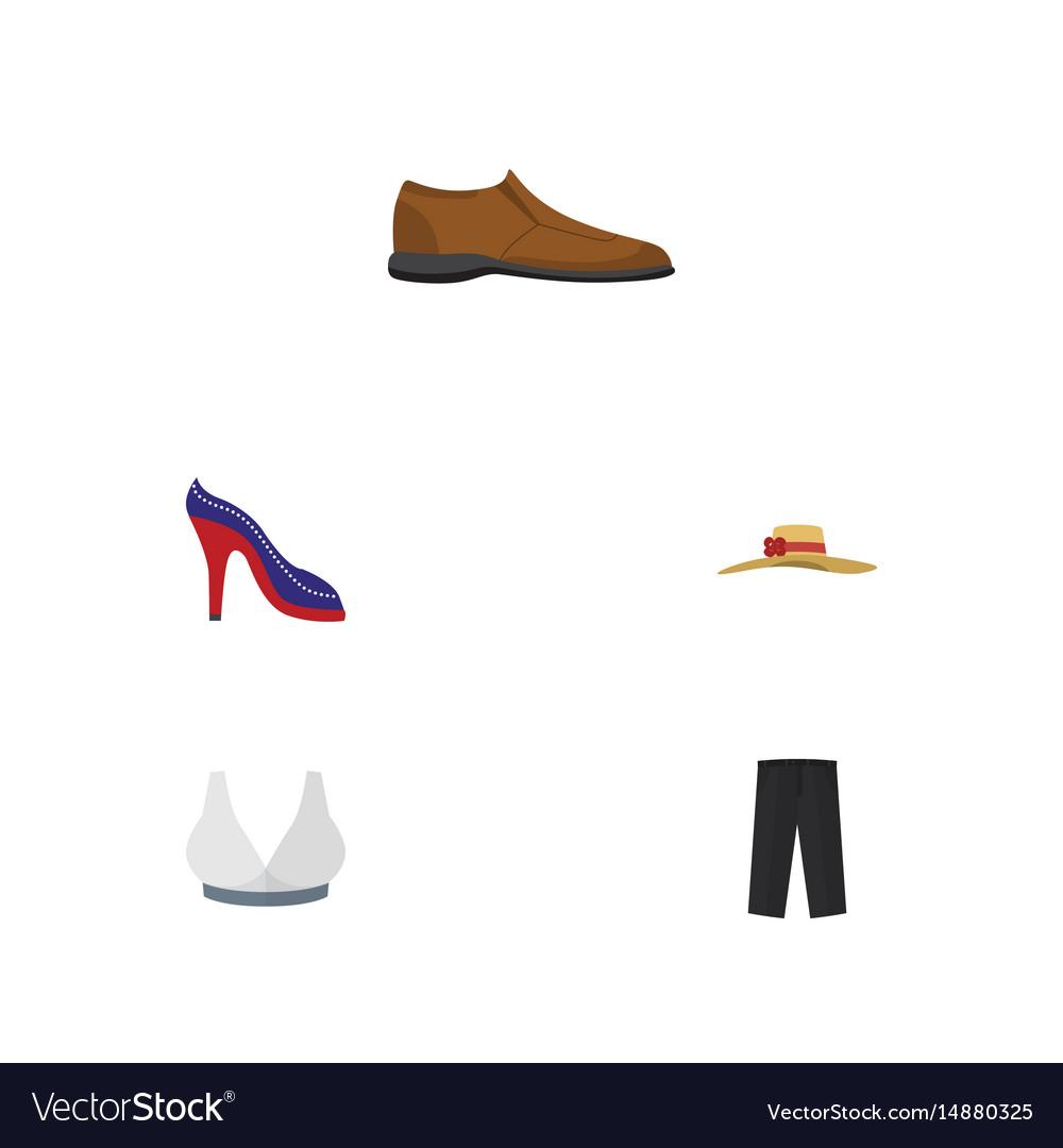 Flat clothes set of elegant headgear pants