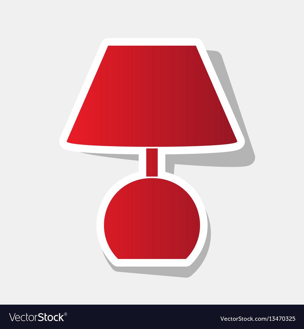 Lamp sign new year reddish