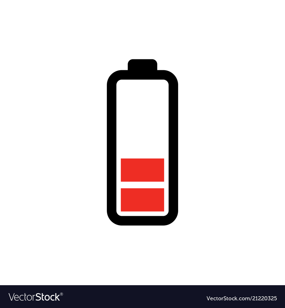 low battery icon power battery royalty free vector image vectorstock