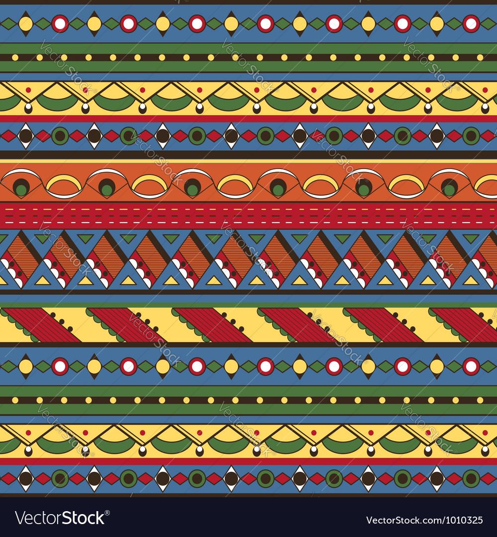 Seamless ethnic background vector image