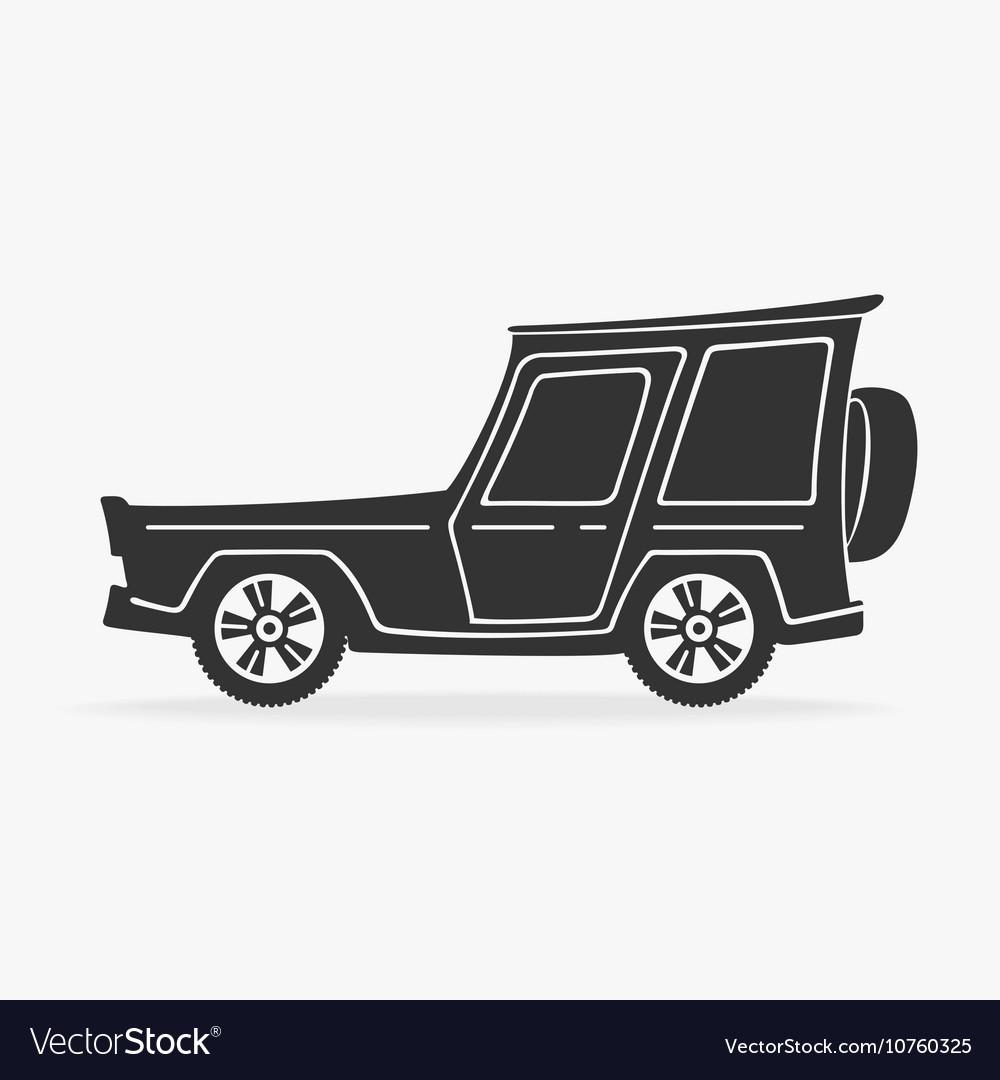 Symbol Cross Car Royalty Free Vector Image Vectorstock