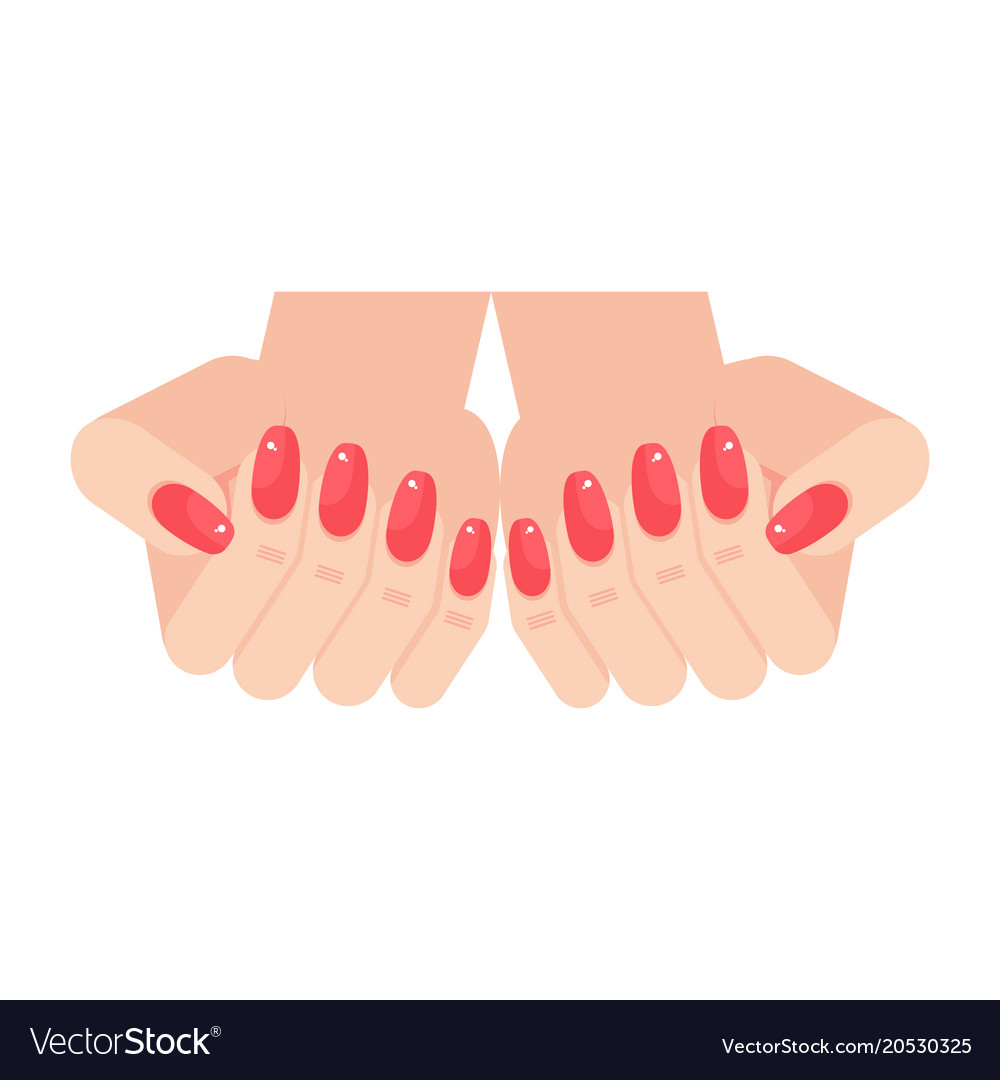 Woman hands with manicure nails