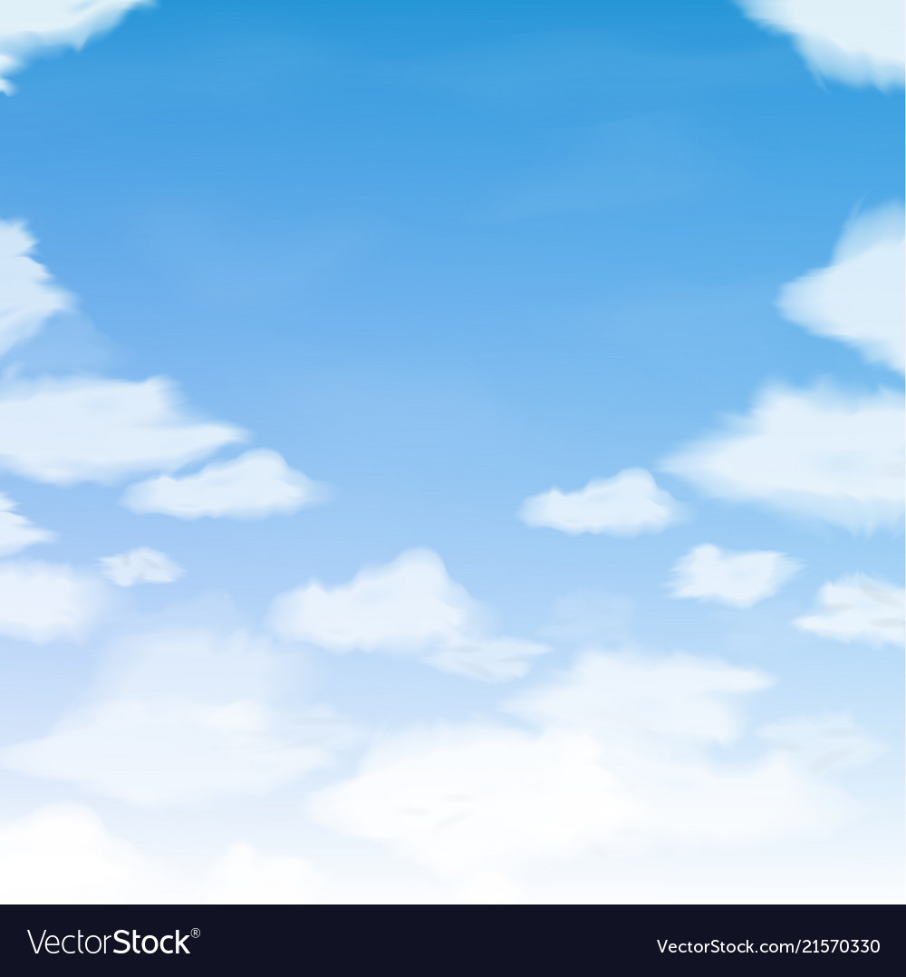 Blue sky with clouds abstract background