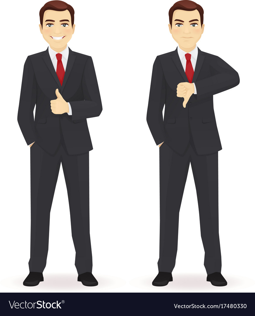 Businessman showing thumbs vector image