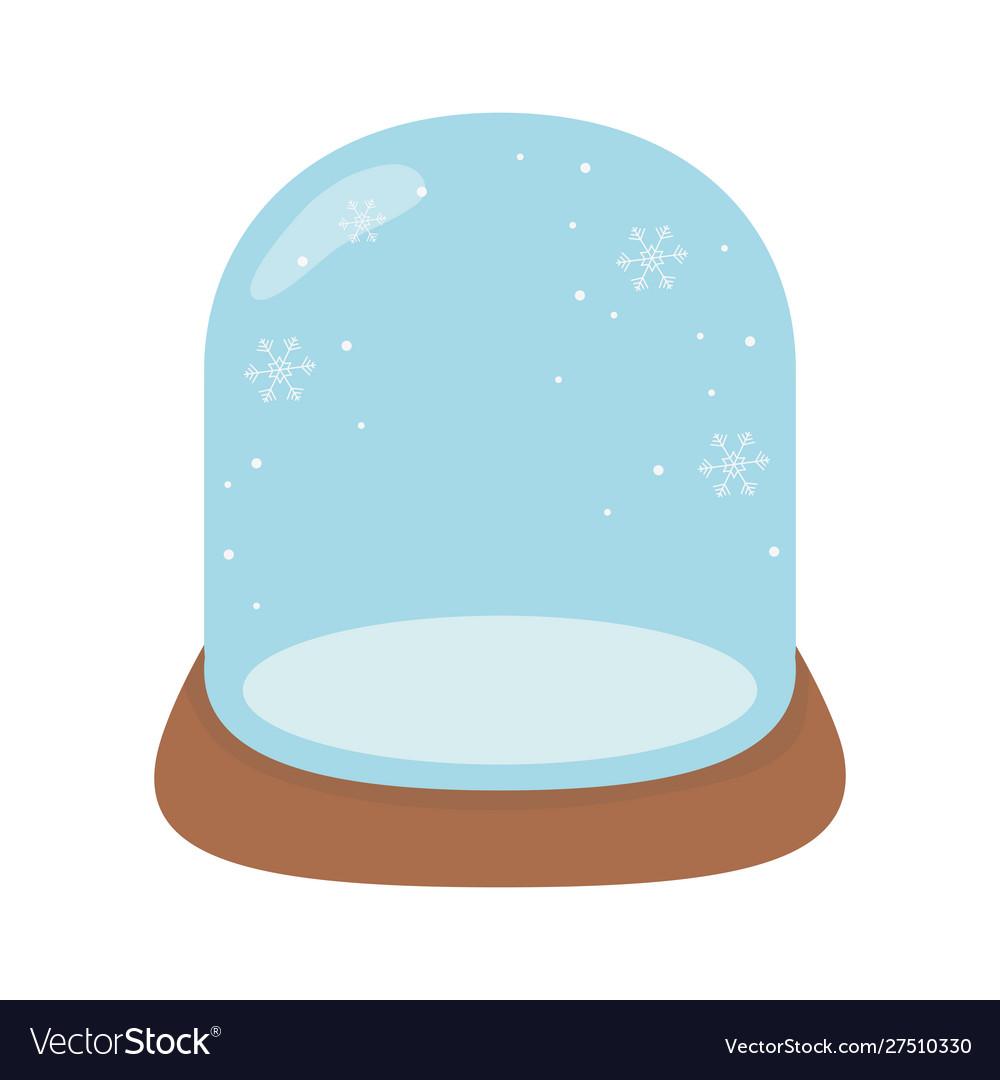 Crystal ball snow celebration merry christmas