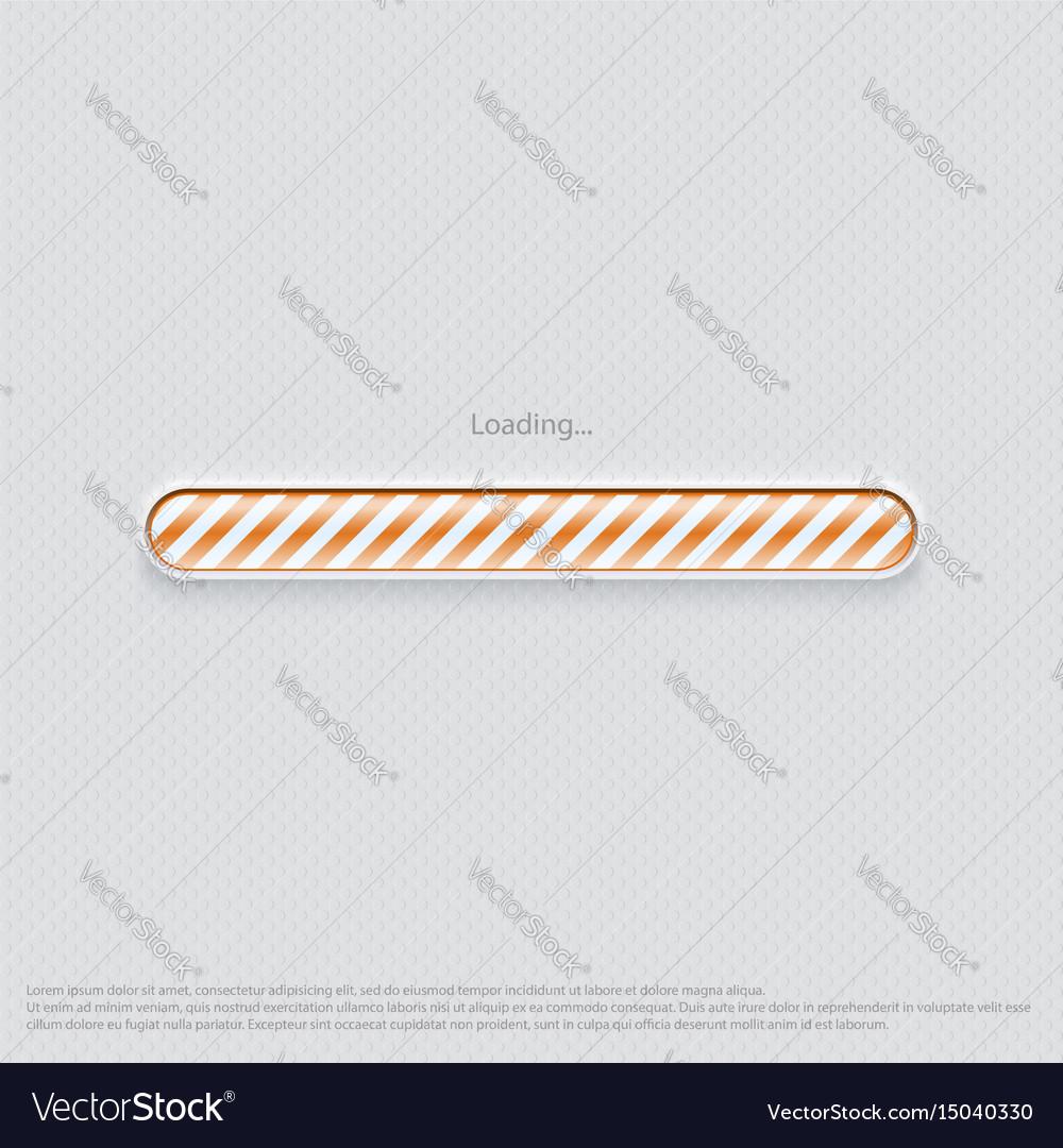 Loading web design orange vector image