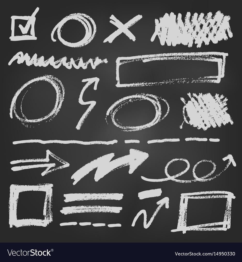 Notebook doodle pen arrow set vector image