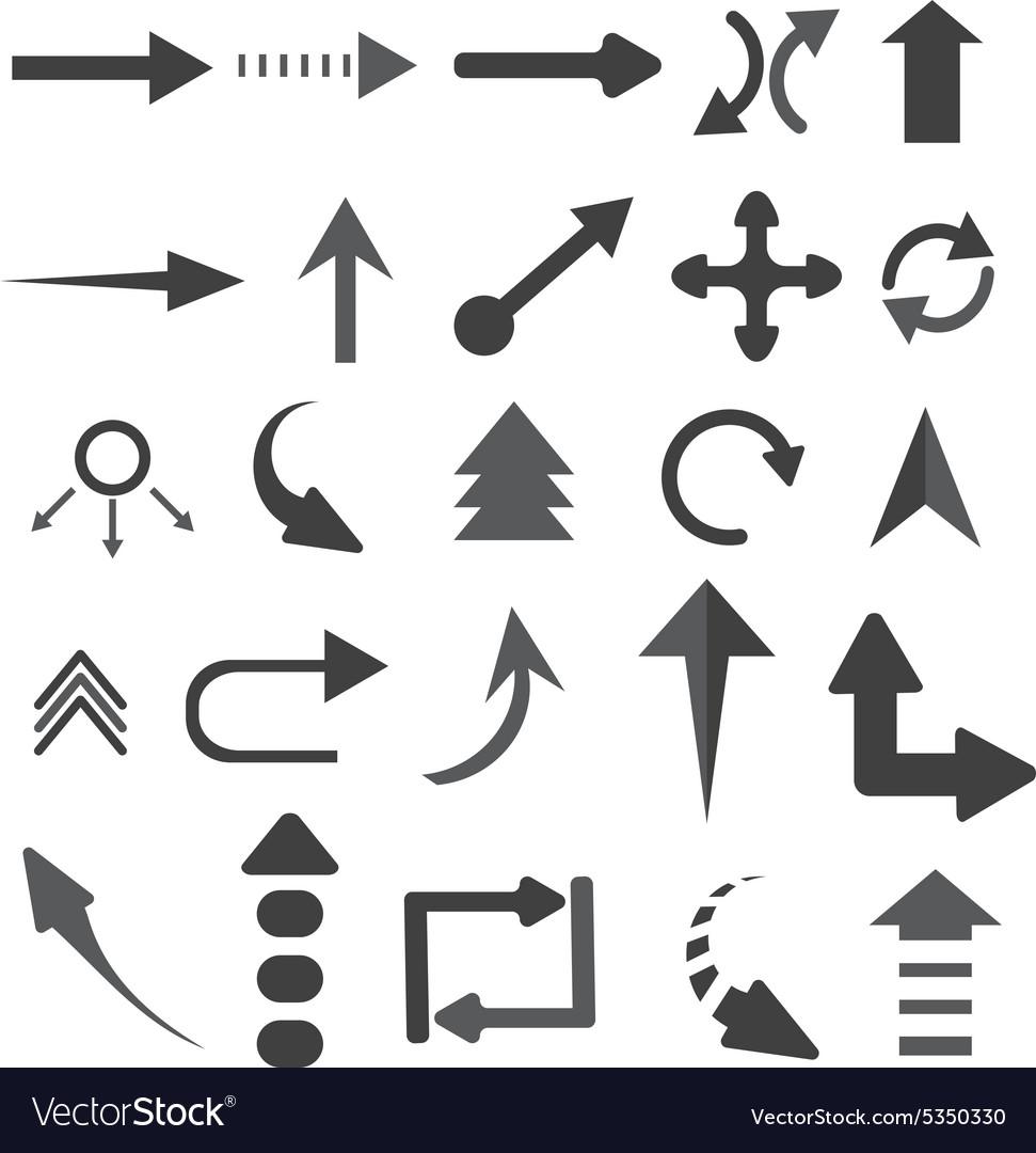 Objects arrows set