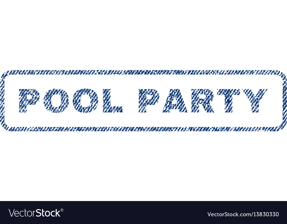 Pool party textile stamp vector image