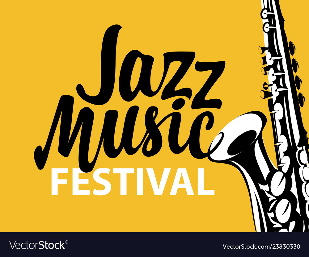 Poster for a jazz music festival with saxophone