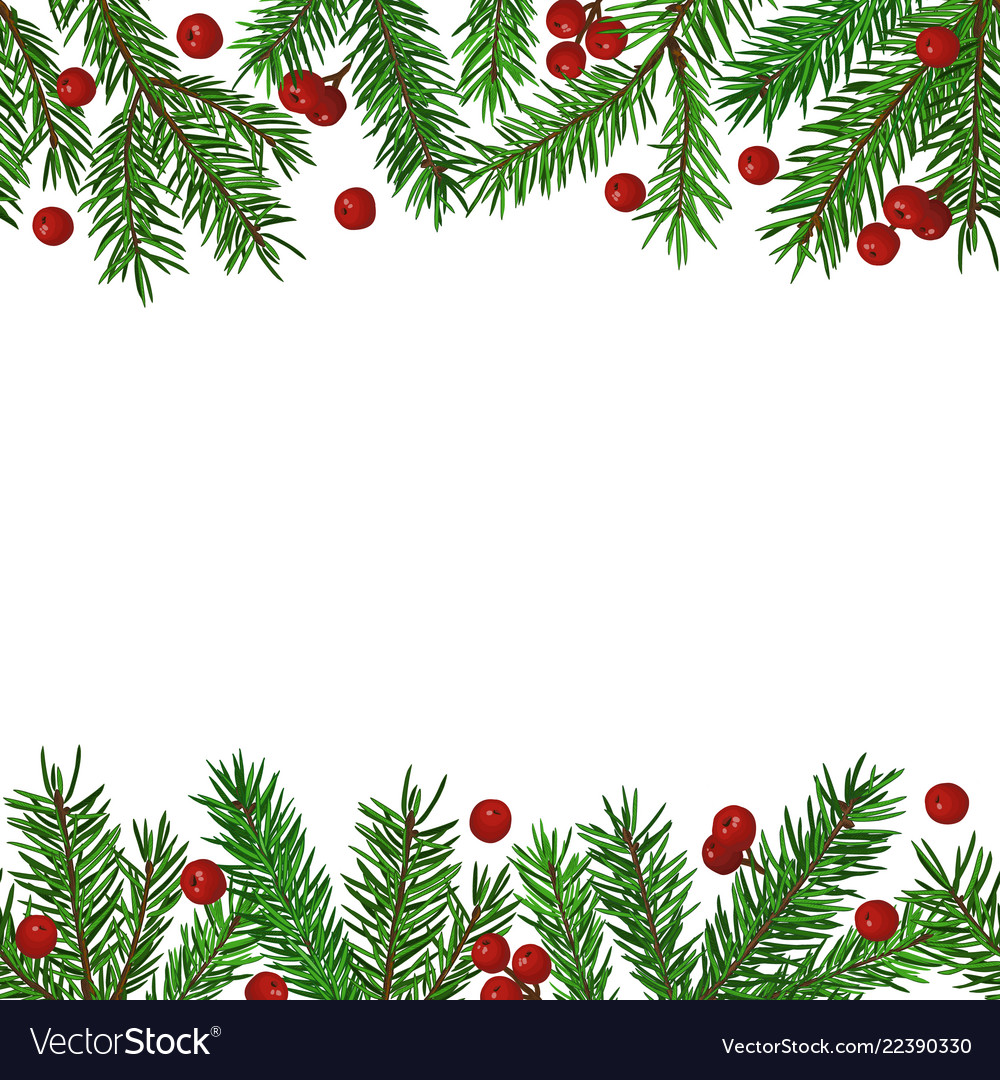 Seamless background with realistic green fir tree