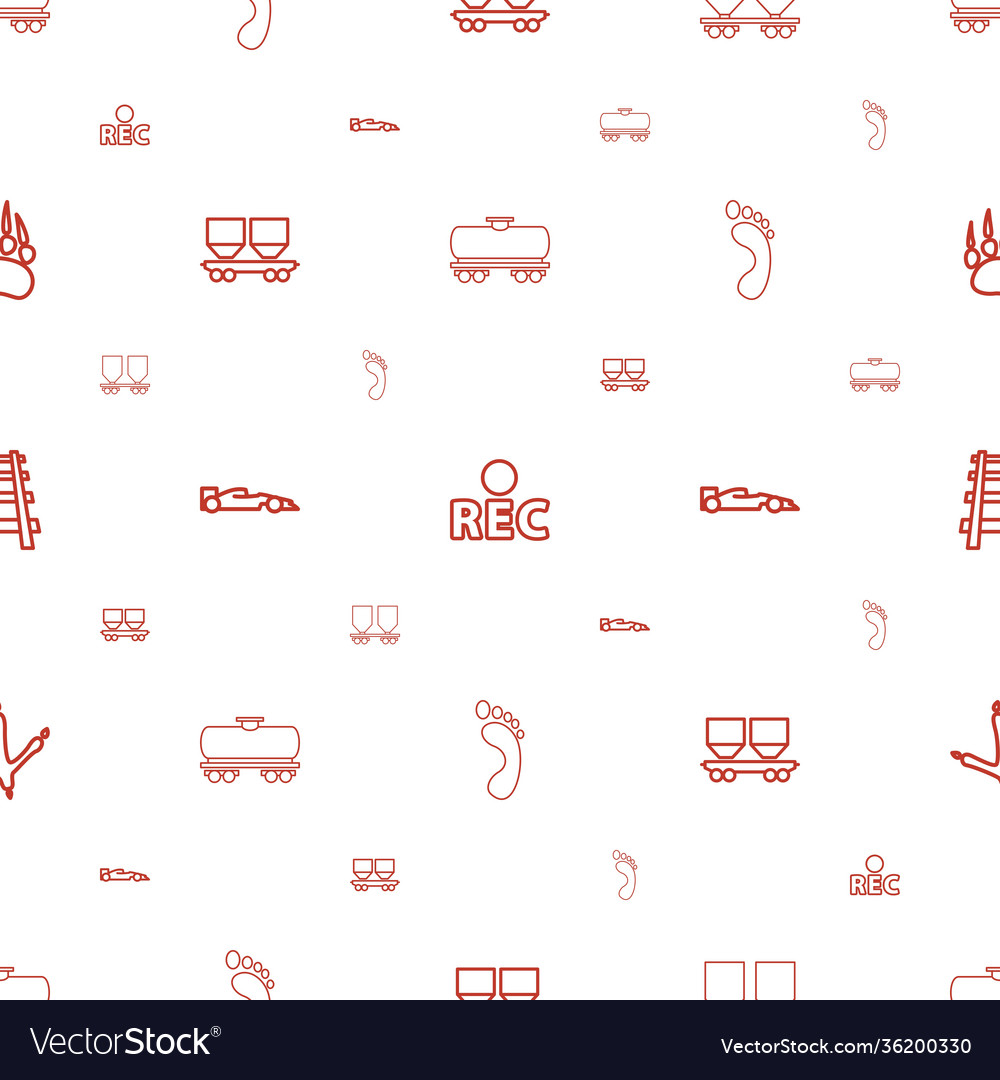 Track icons pattern seamless white background
