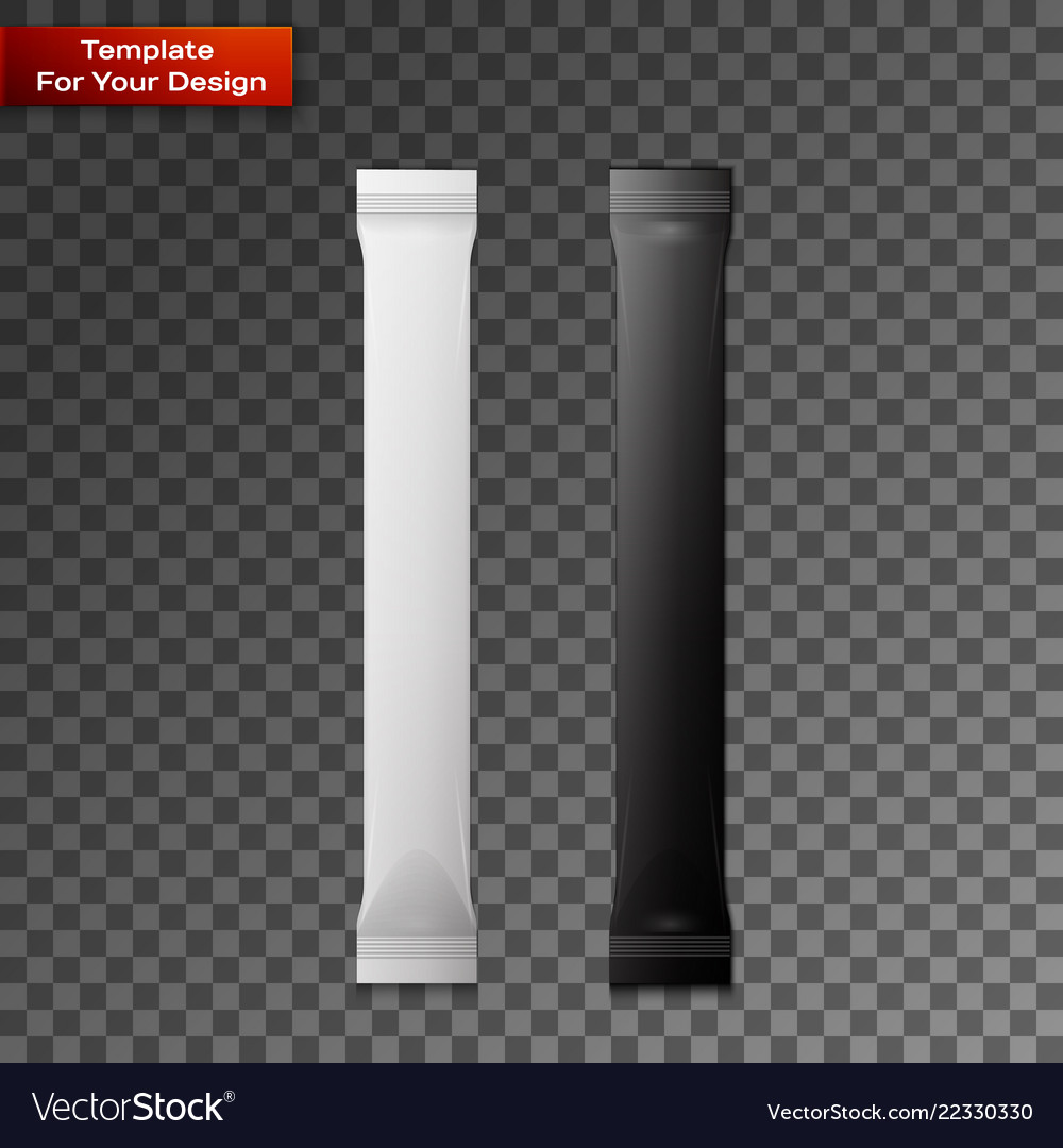 White and black blank foil packaging plastic