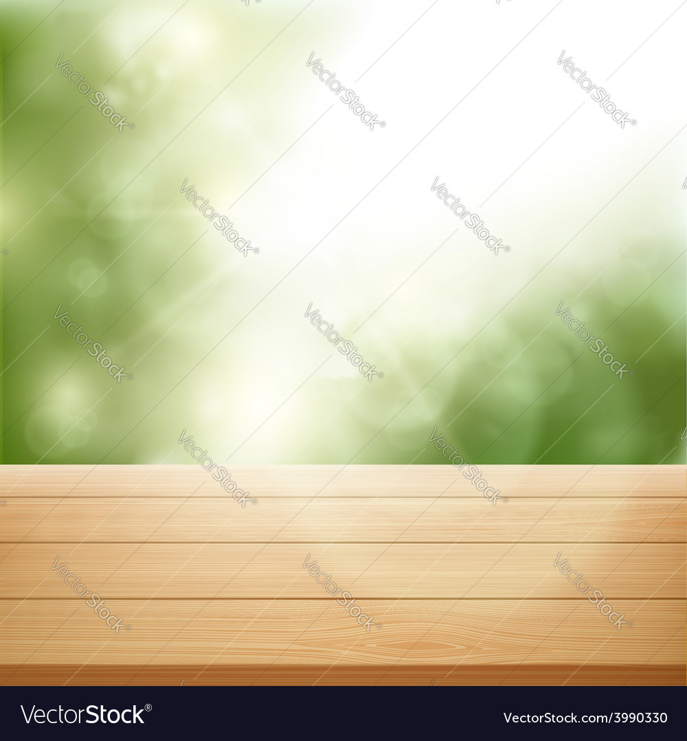 table background. Delighful Background Wooden Table On Background Of Trees Vector Image Inside Table Background