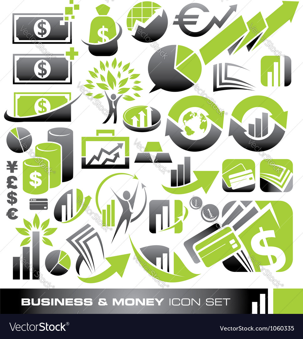 Business and money icon set