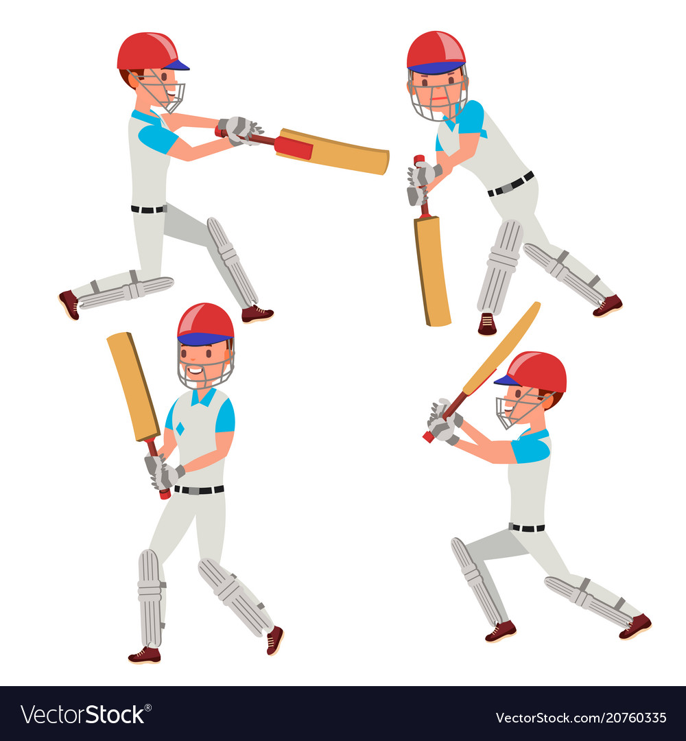 Cricket player wearing sport uniform