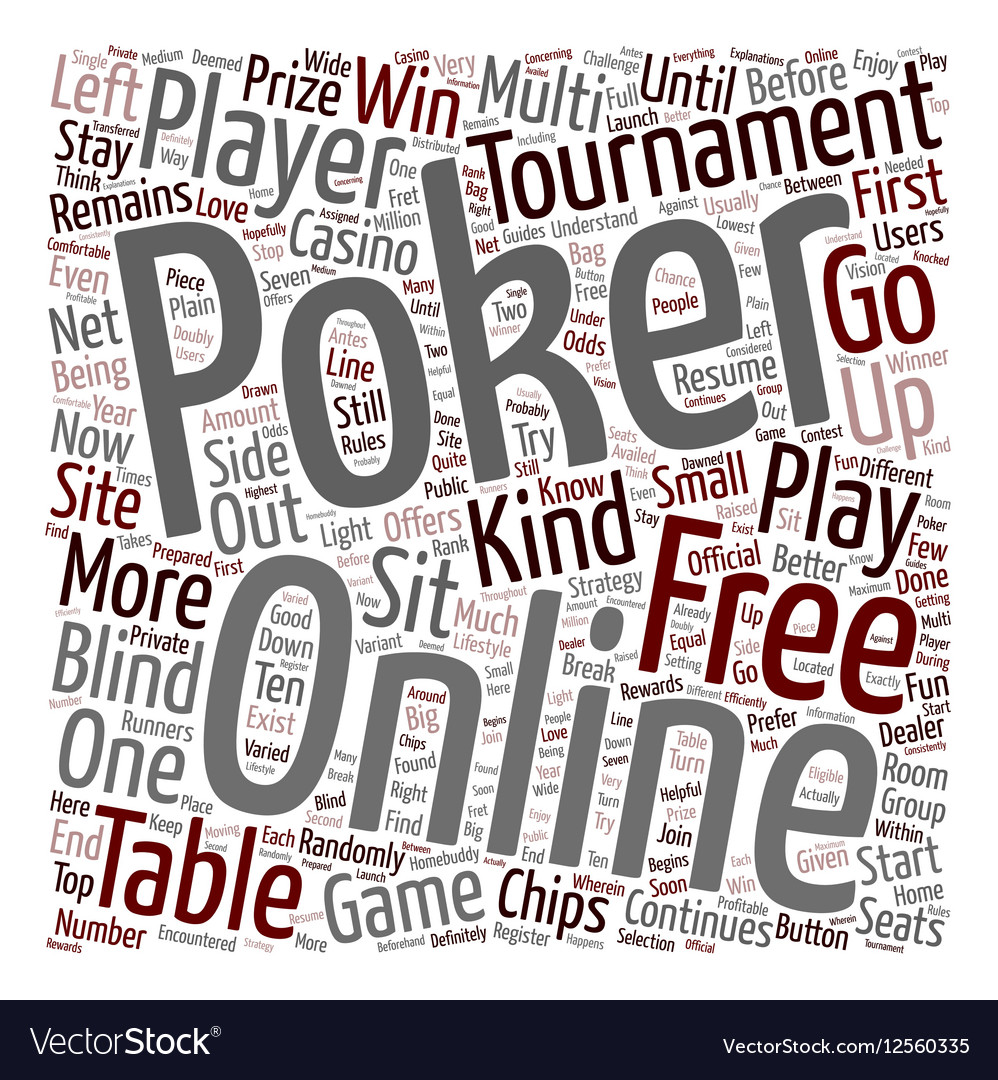 Free online poker 1 text background wordcloud