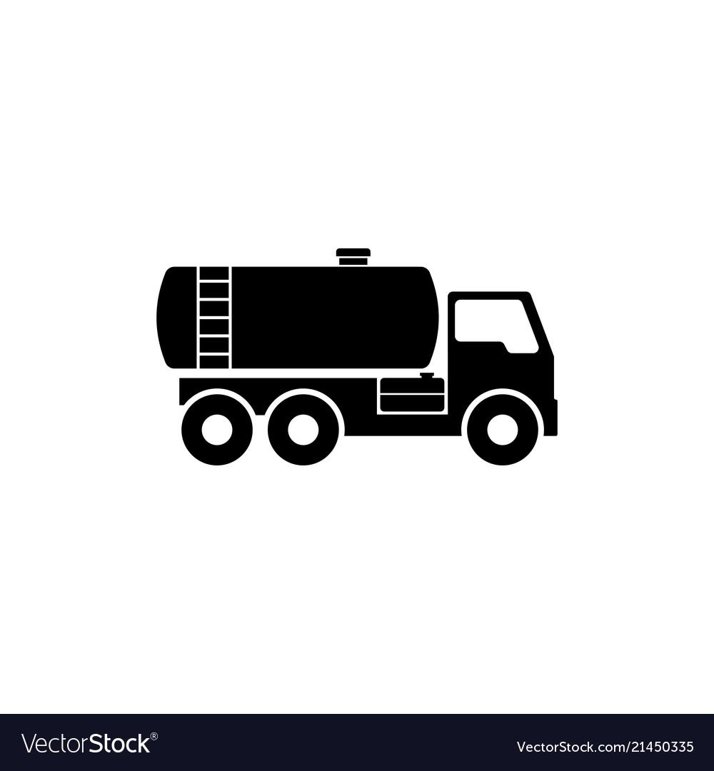 Gasoline fuel truck flat icon