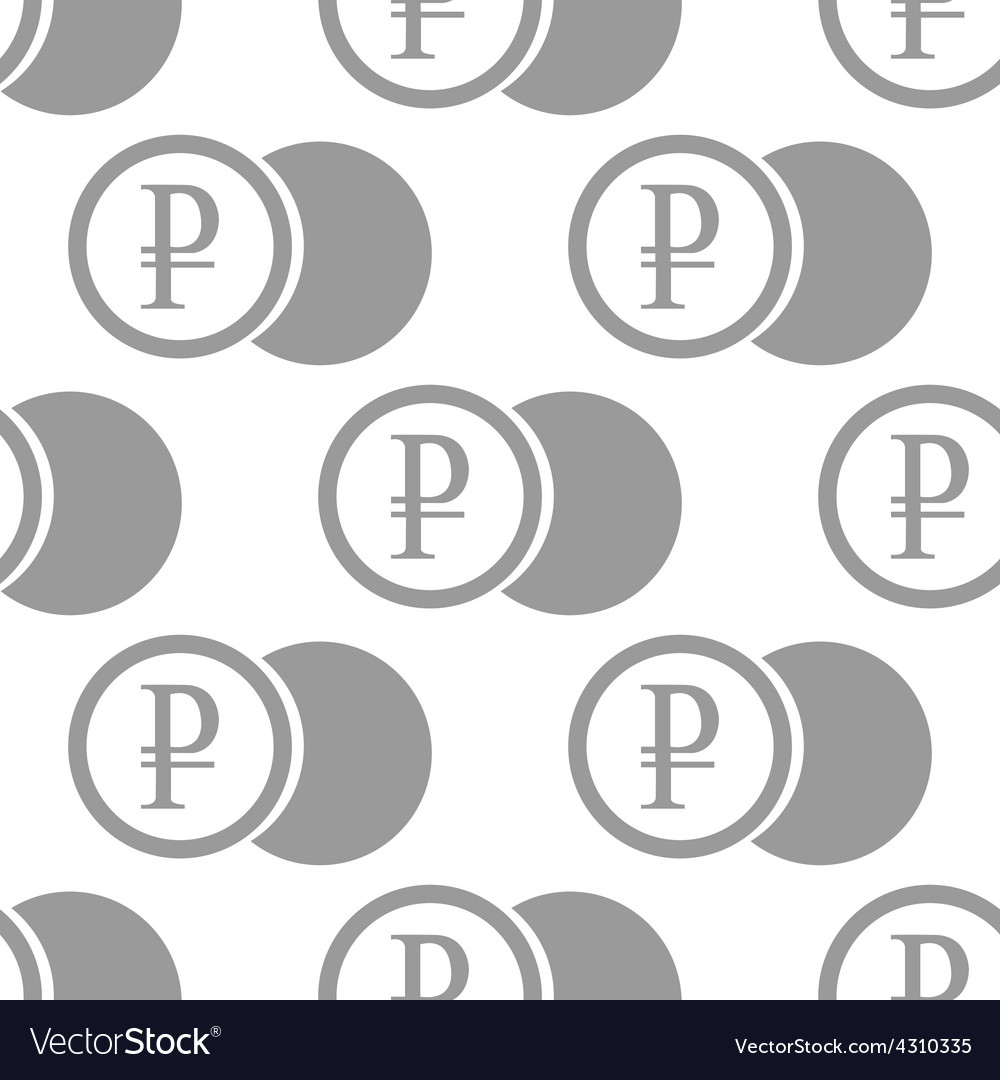 New Rouble coin seamless pattern