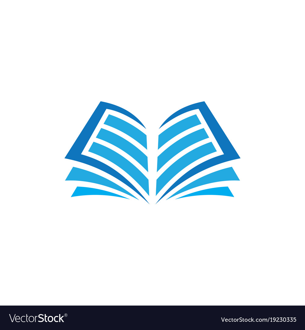 open book logo education royalty free vector image rh vectorstock com open book logo meaning open book logo design