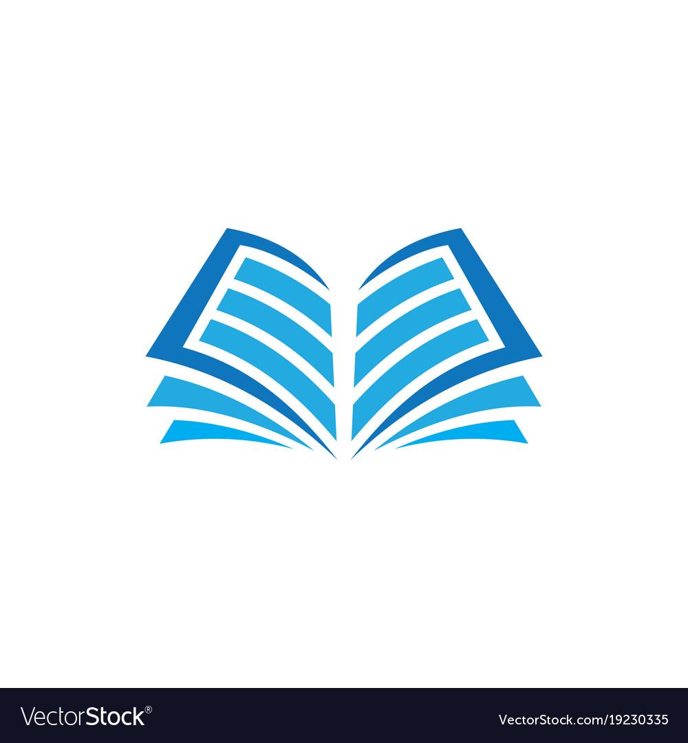 open book logo education royalty free vector image