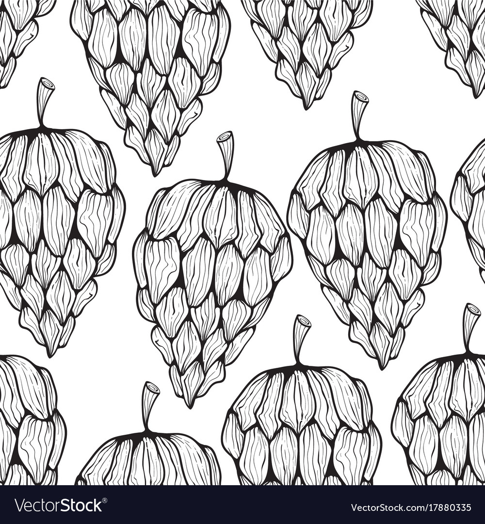 Seamless pattern with funky cones