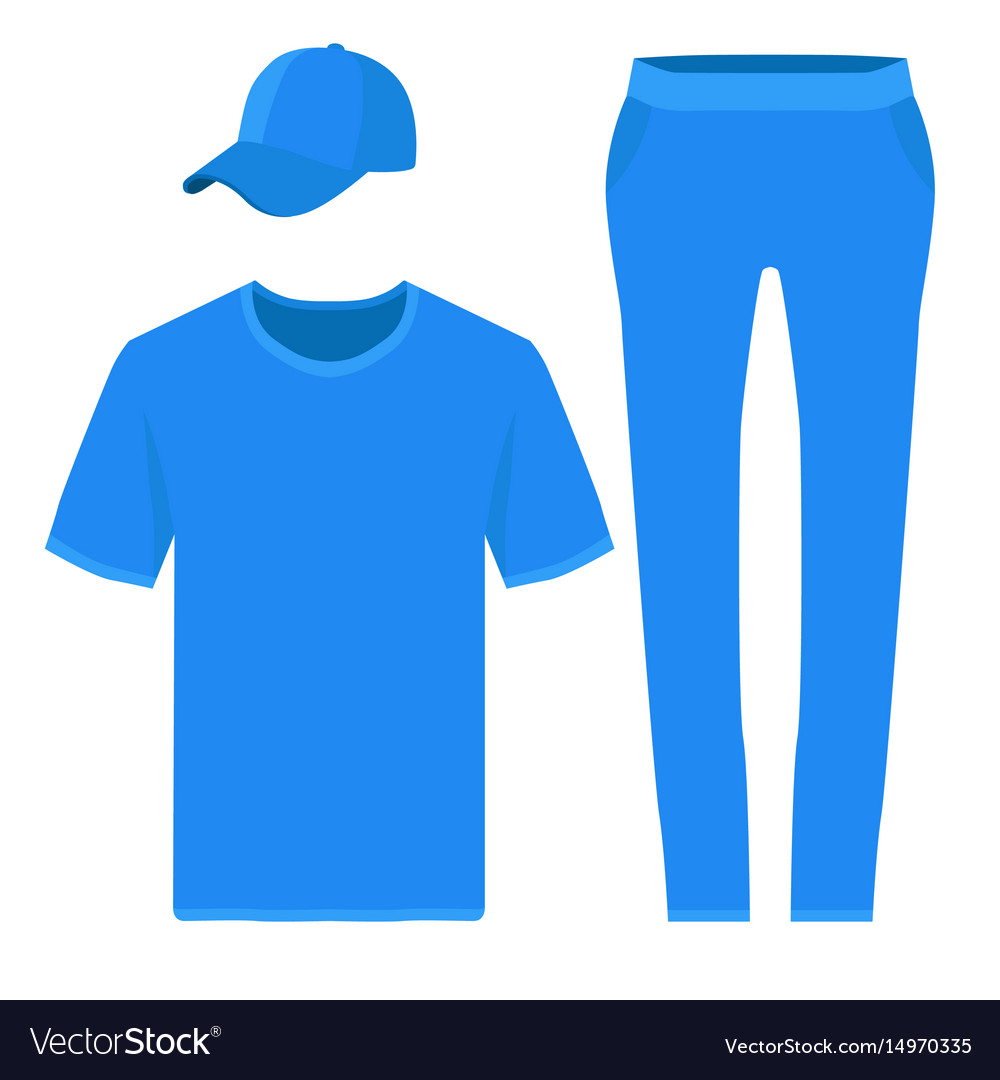 T-shirt pants and baseball cap design templates