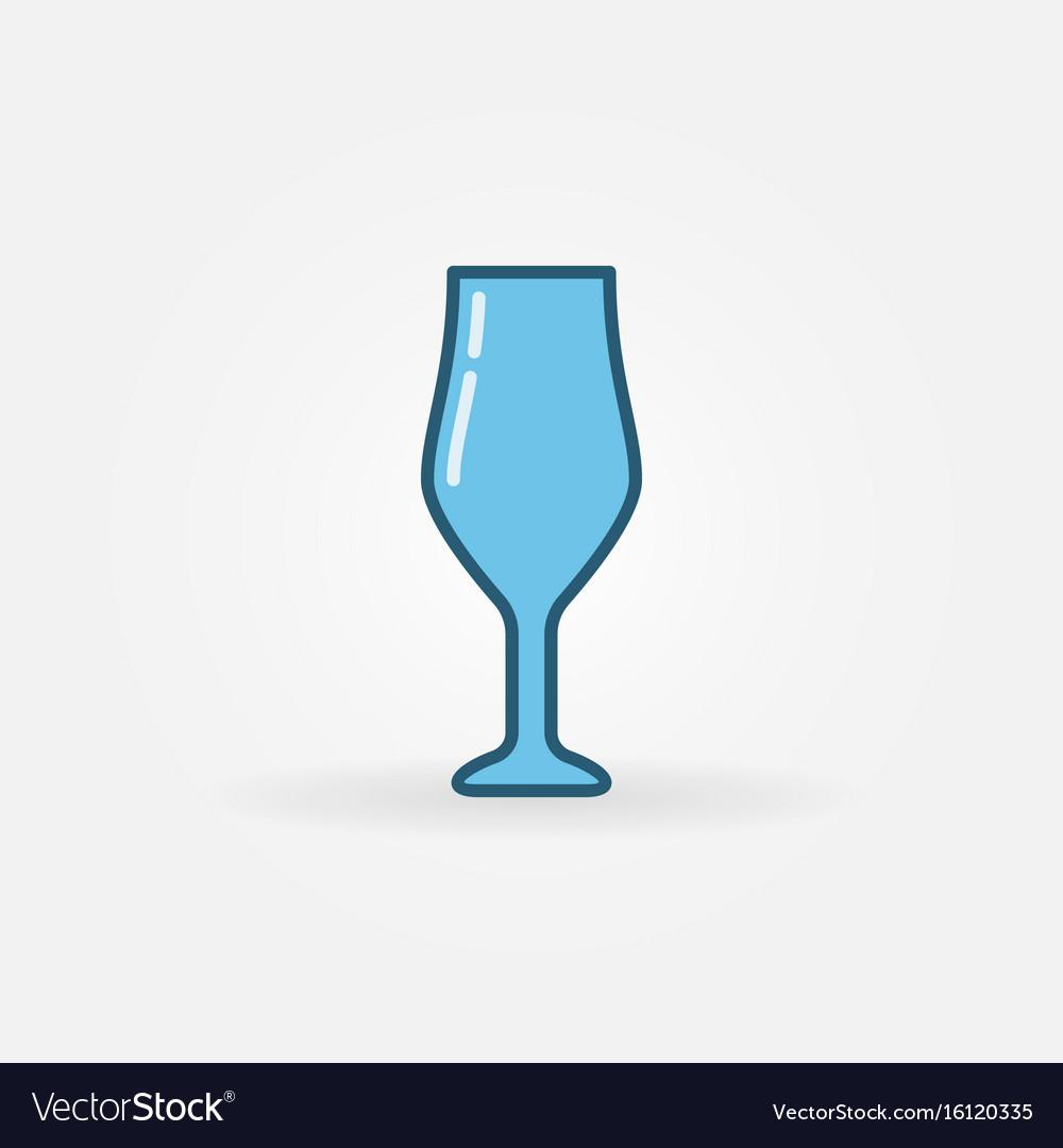 Wine glass blue icon