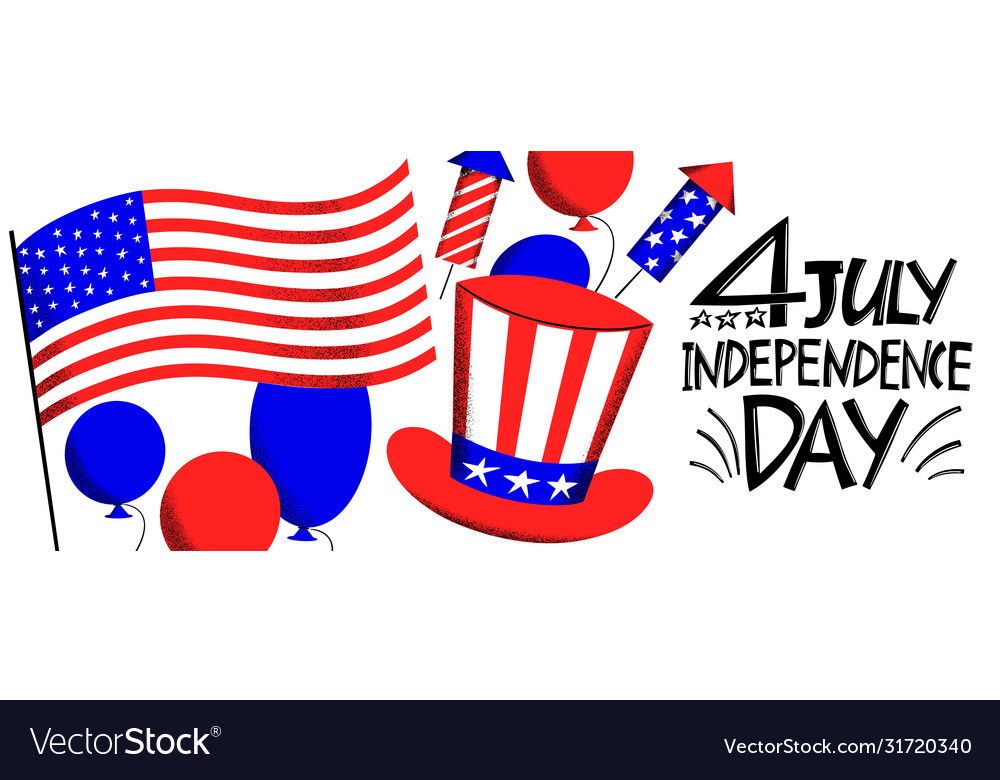 America independent day design template festive