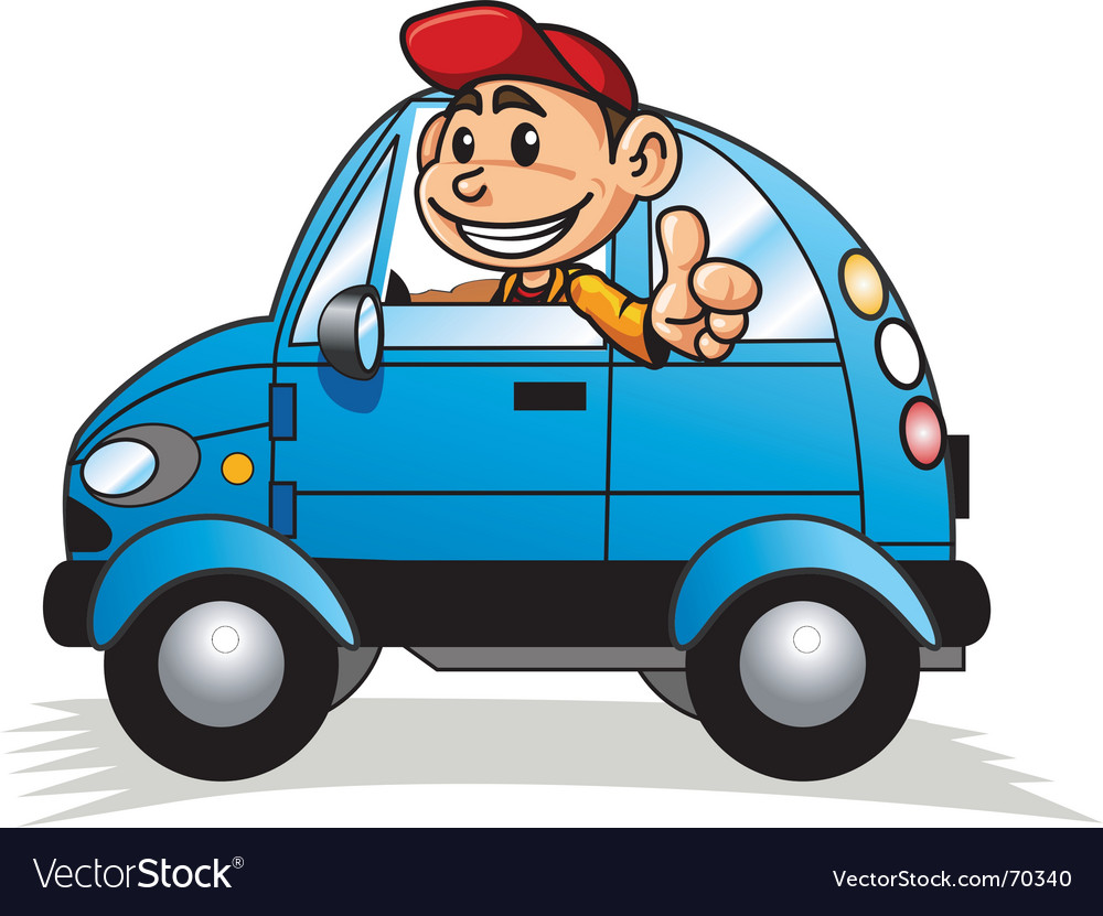 Cartoon motorist Royalty Free Vector Image - VectorStock