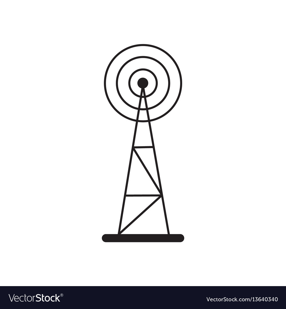 cell phone tower icon royalty free vector image  vectorstock