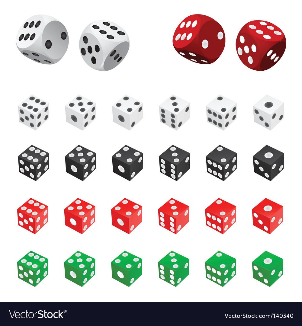 dice royalty free vector image vectorstock