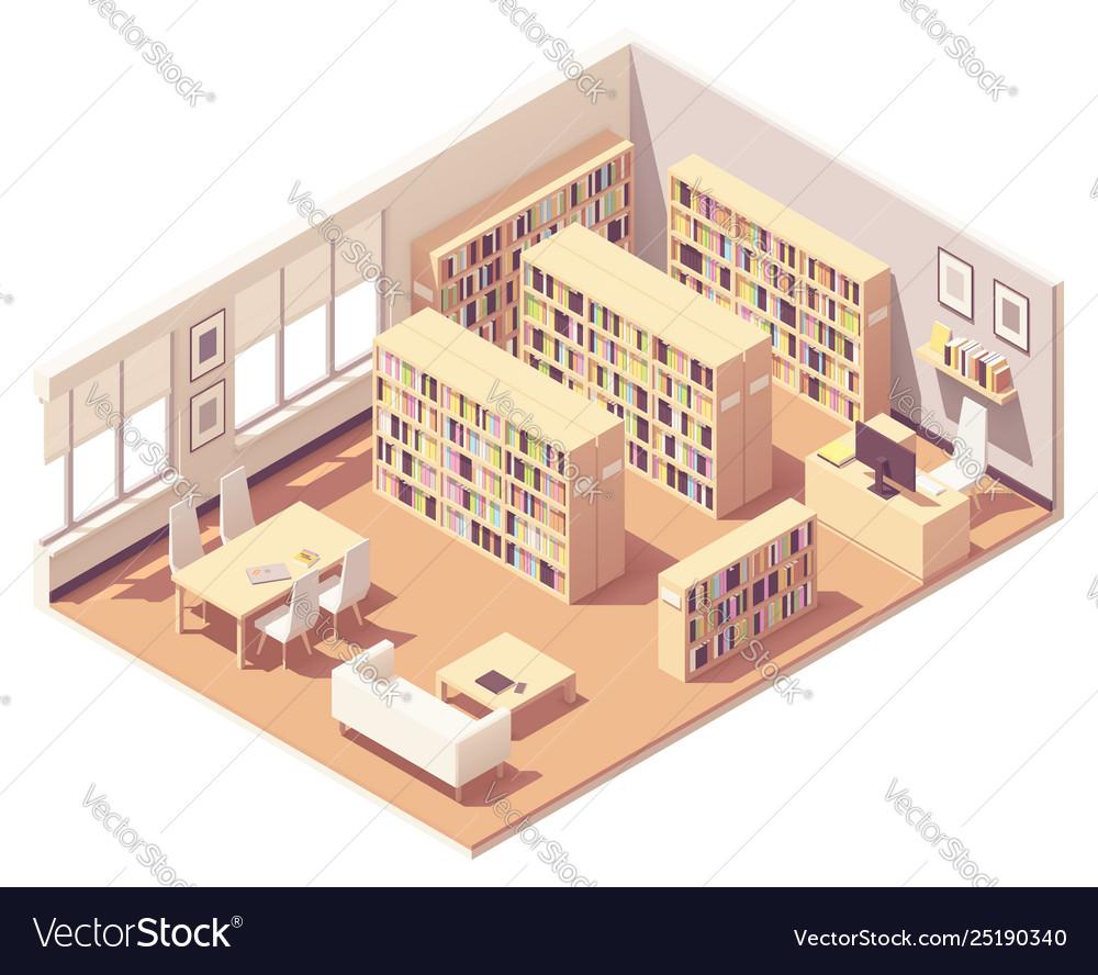 Isometric university library