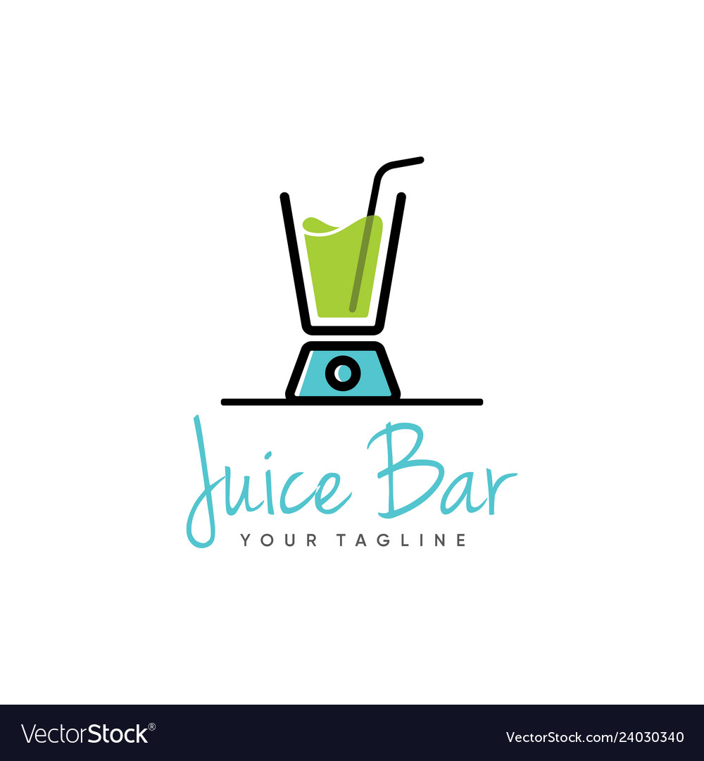 juice logo design royalty free vector image vectorstock vectorstock