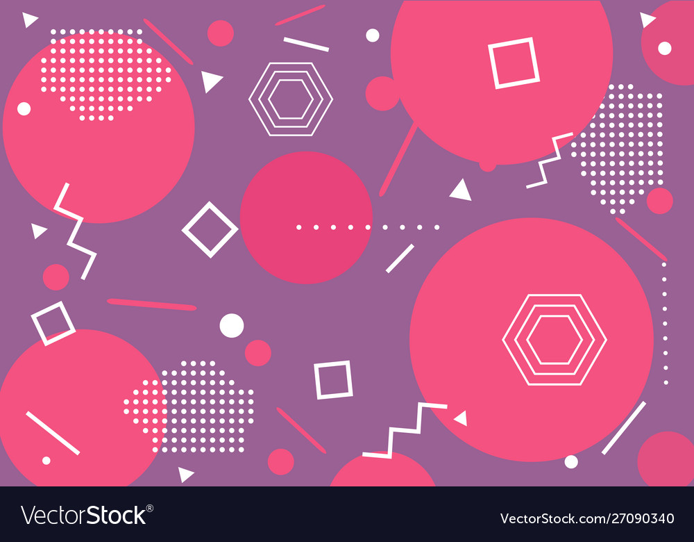 Modern pink geometrical pattern background