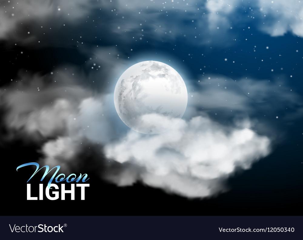 Moonlight night Full Moon Mystical sky Realistic