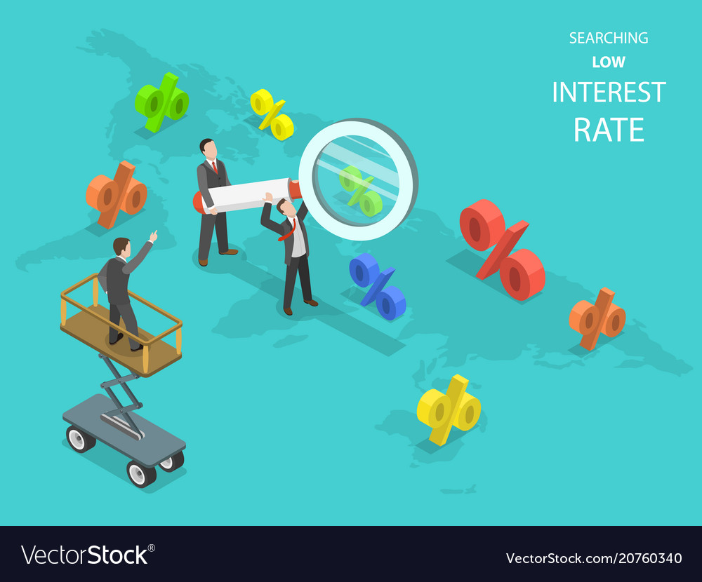 Searching low interest rate flat isometric
