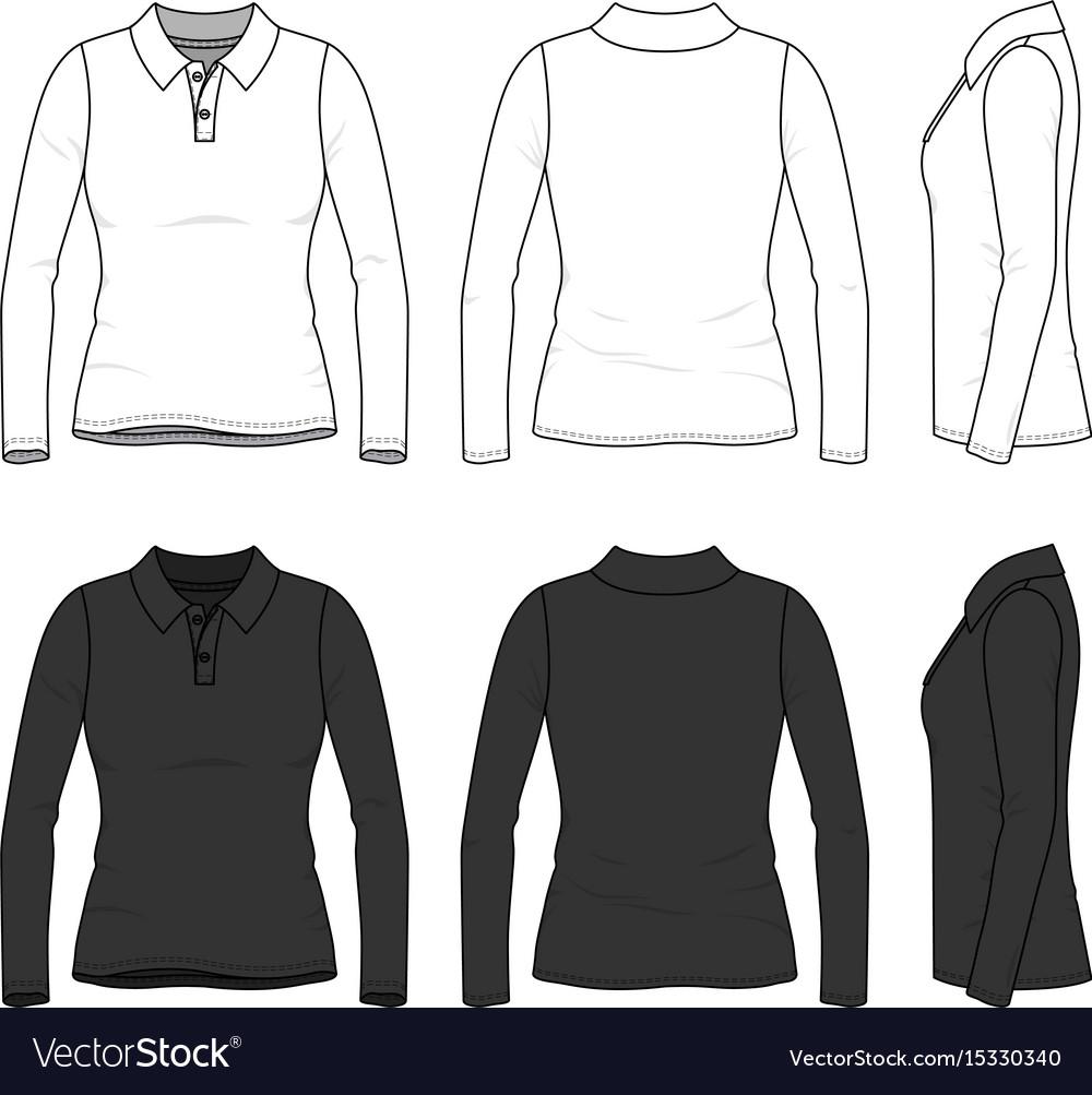 Set of female polo shirt