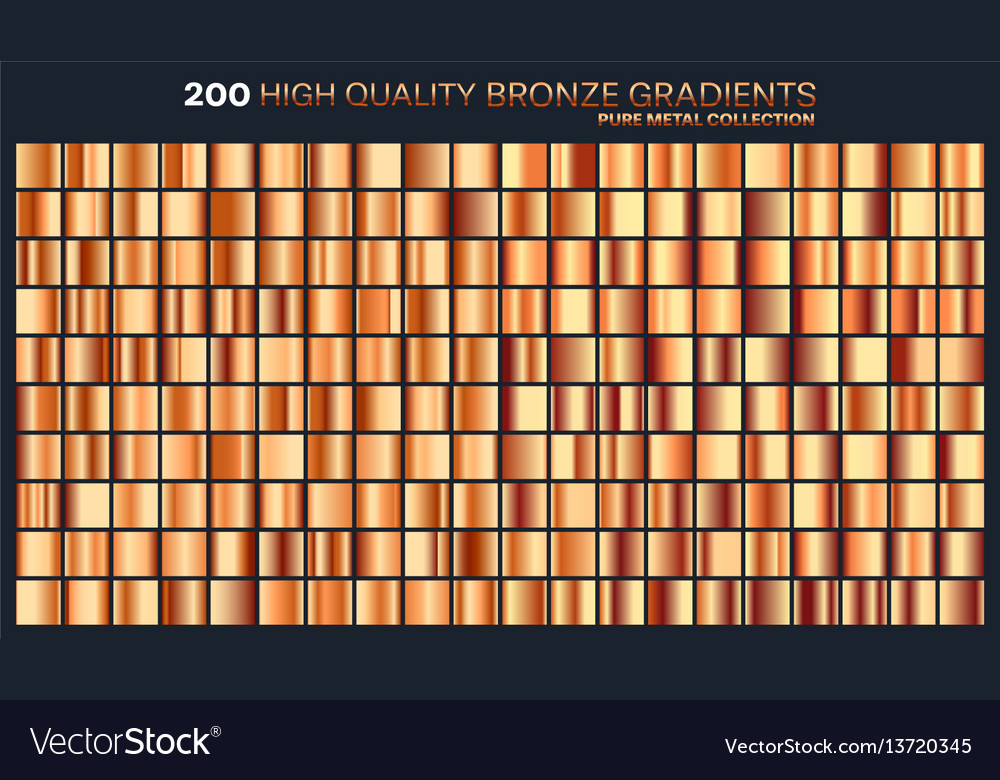Bronze gradientpatterntemplateset of colors for vector image