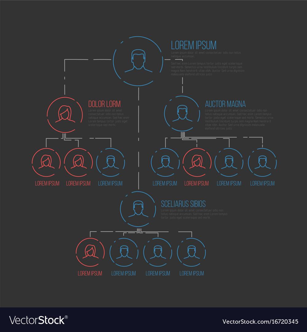 Company hierarchy diagram template royalty free vector image company hierarchy diagram template vector image ccuart Image collections