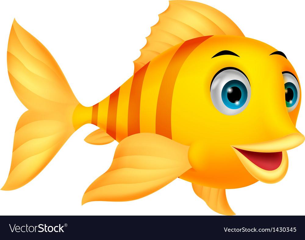 cute fish cartoon royalty free vector image vectorstock rh vectorstock com cute fish cartoon pics cute fish cartoon images
