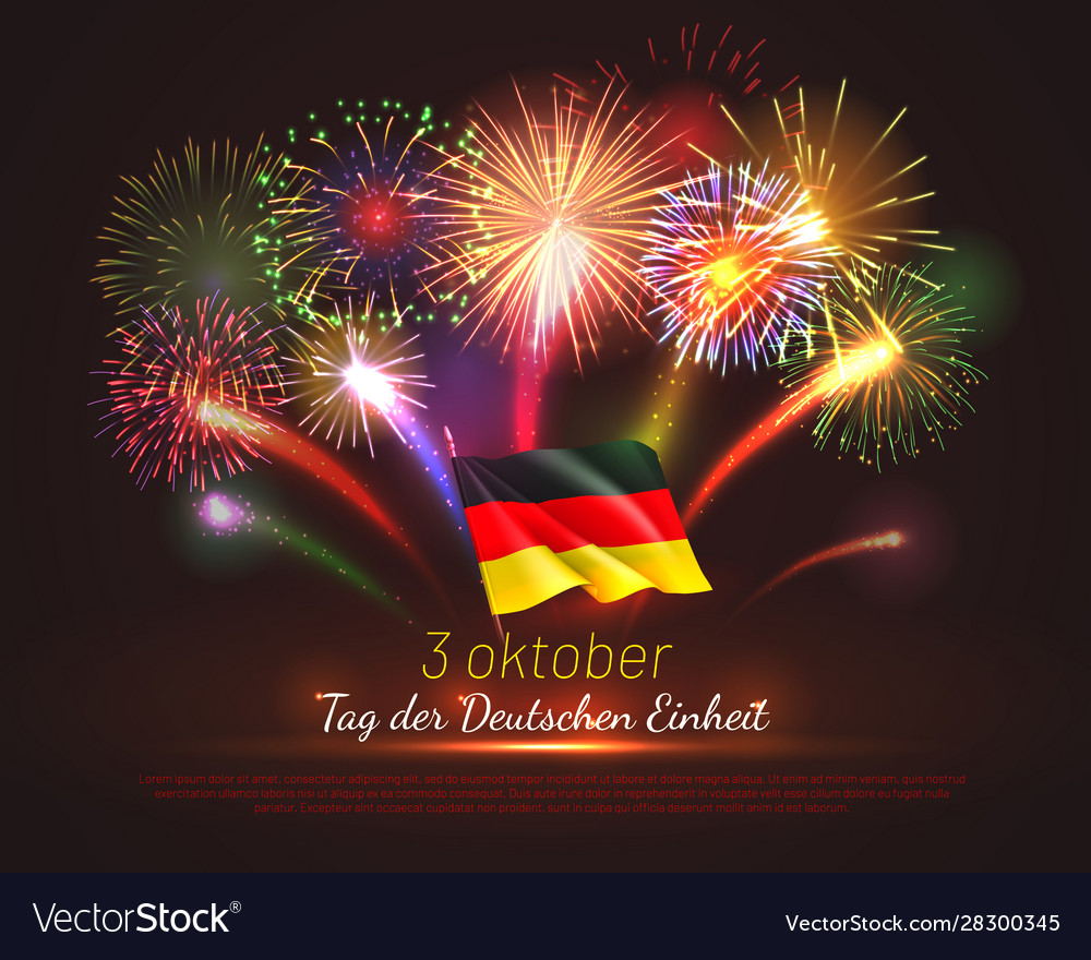 Germany independence day greeting card