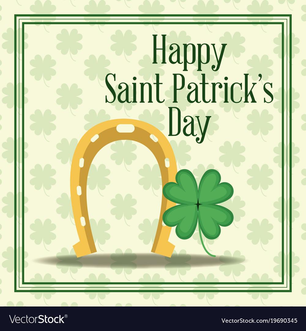 Happy saint patricks day card