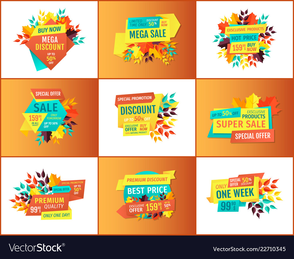 profitable shop or store sale proposition flyers vector image
