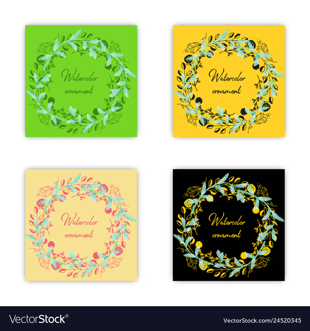 Summer vintage floral greeting card with blooming vector image